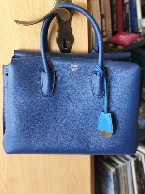 Milla Tote Medium Navy Blue MCM