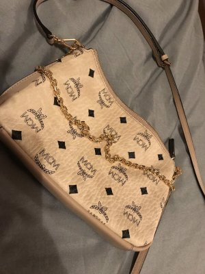 Millie Visetos Crossbody Bag Medium Beige