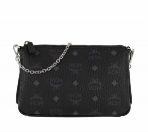 Millie Visetos Crossbody Bag Medium Black