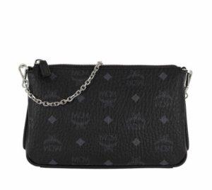 Millie Visetos Crossbody Bag Medium Black