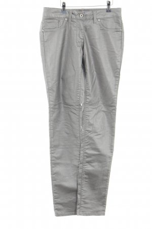 Million X Women Five-Pocket Trousers silver-colored casual look