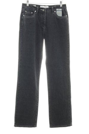 Million X Women Straight-Leg Jeans dunkelgrau Jeans-Optik