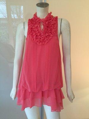 Millions & Millions Tunika Bluse Rosa Rüschen 38 M Tunic Top Pink Ruffle Blouse
