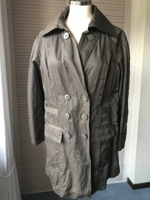 Mills Women Long Jacket grey brown-ocher mixture fibre