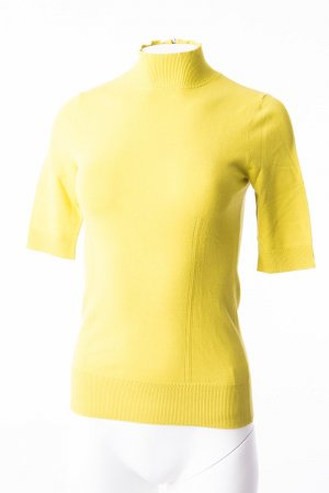 J.crew Turtleneck Shirt lime yellow viscose