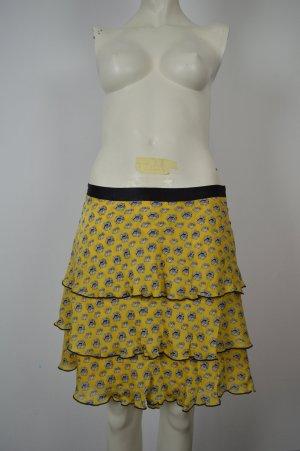 Milly Silk Skirt gold orange silk