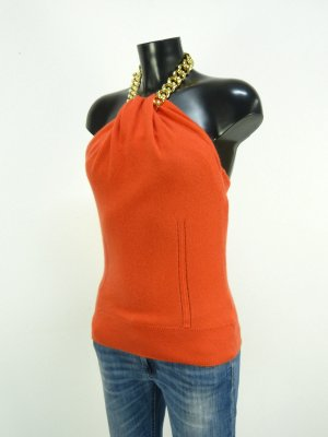 """MILLY OF NEW YORK"" Neckholder-Top GR. S/M 100% CASHMERE"