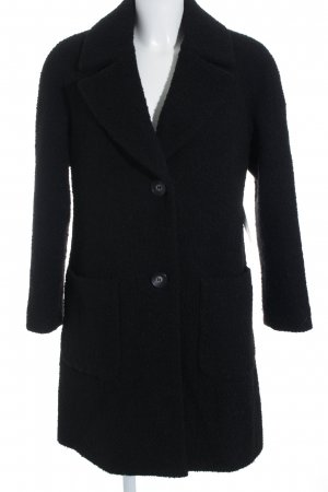 Milo Coats Wollmantel schwarz minimalistischer Stil