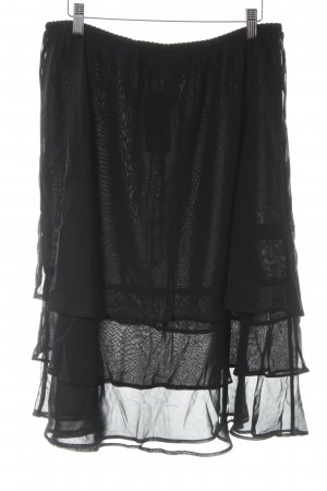 Mim Flounce Skirt black romantic style
