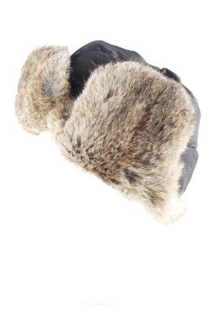 Mimic Copenhagen Chapeau d'aviateur noir-cognac style décontracté