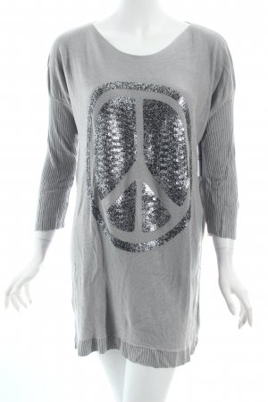 Mimix Oversized Pullover hellgrau-anthrazit Casual-Look