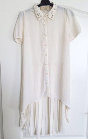 Mina UK Hemdkleid weiß mit Spitzenrücken