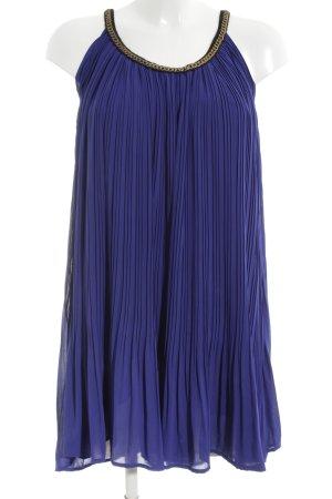 Mina UK Minikleid blau-goldfarben Allover-Druck Elegant
