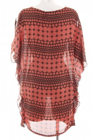 Mina UK Oversized Blouse red-brown graphic pattern casual look