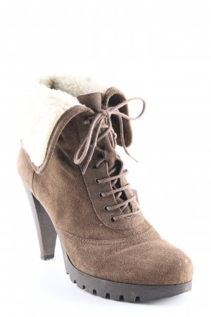 minelli Booties camel-creme Casual-Look