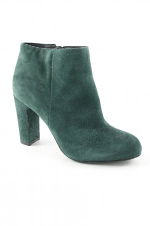 minelli Booties forest green-petrol classic style