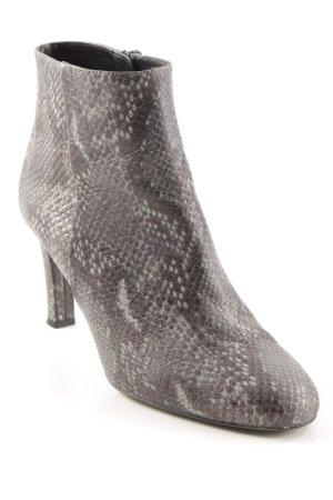 minelli Reißverschluss-Stiefeletten anthrazit-graugrün Animalmuster