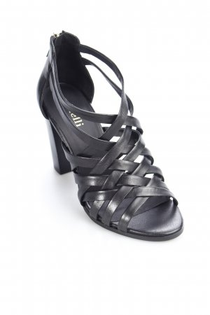 minelli Strapped High-Heeled Sandals black party style