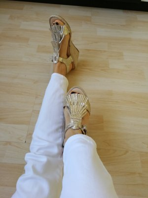 minelli Wedge Sandals gold-colored