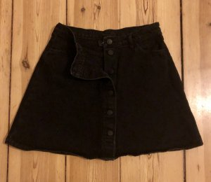 Mini A-line Denim Skirt / Neu / Black