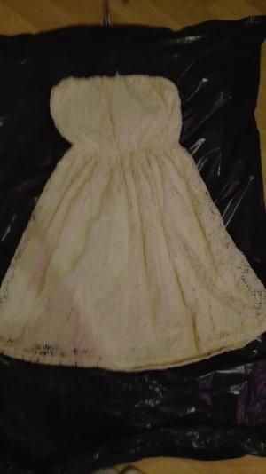 Mini-arbend Kleid beige