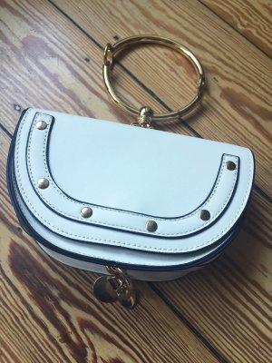 Mini Bag weiss Ring Gold
