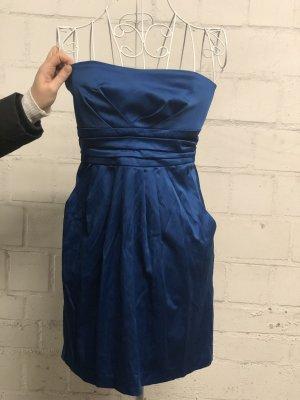 Vestido bandeau azul