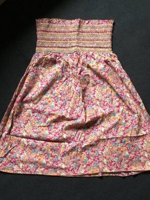 Vestido bandeau multicolor Algodón