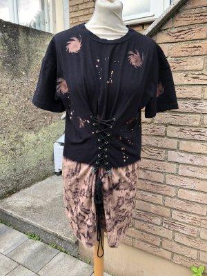 Mini Batik Tshirt-Kleid mit Schnürung