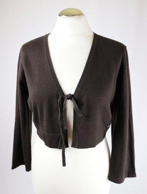 Street One Knitted Bolero dark brown-black brown mixture fibre