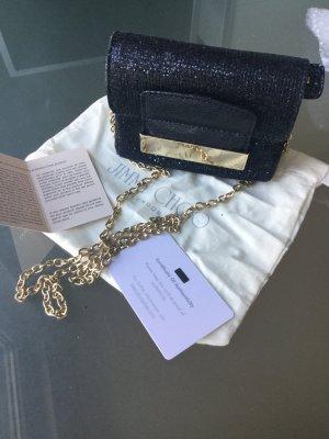 Mini Glam: schwarze Jimmy Choo Crossbody-Bag