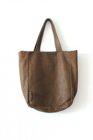 René Lezard Carry Bag grey brown leather