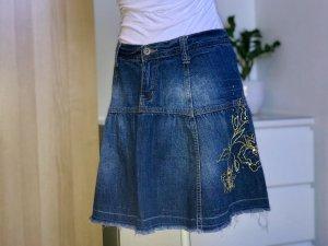 Mini Jeans Faltenrock