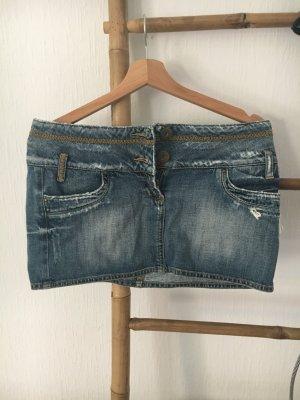 Mini-Jeans-Rock im Used-Look