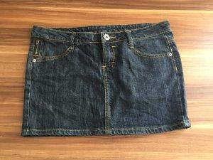 Mini Jeans Rock mit Nähten