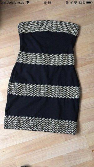 b.p.c. Bonprix Collection Mini vestido negro-color oro