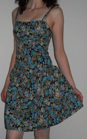 Mini Kleid + Blumen Gr. 38 S M Corsagen Oberteil NEU