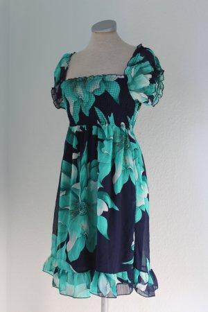 Robe chiffon multicolore