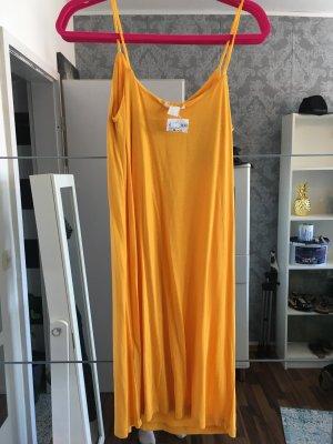 H&M Pinafore dress gold orange-yellow