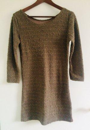 Mini-Kleid Gr. M, Braun/Beige mit Pailletten