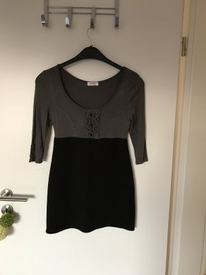 Mini-Kleid in grau-schwarz