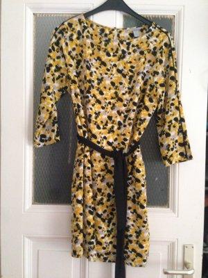 H&M Mini Dress black-dark yellow