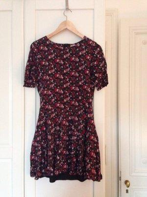 Mini-Kleid mit Blumenmuster