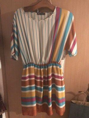 Mini Kleid mit bunten Streifen in gr 42
