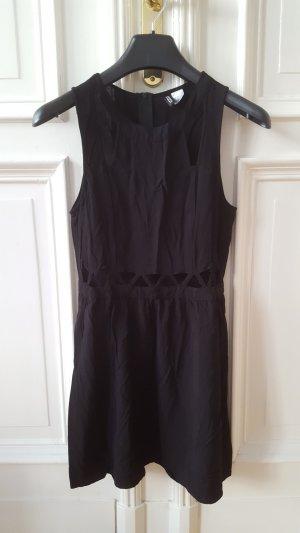 H&M Robe découpée noir