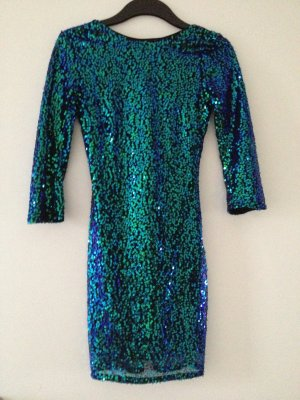 H&M Sequin Dress multicolored polyester