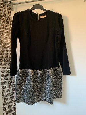 Mini Kleid schwarz Gold