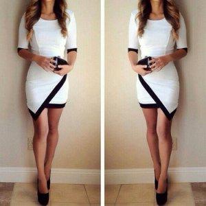 Mini Kleid schwarz Weiß