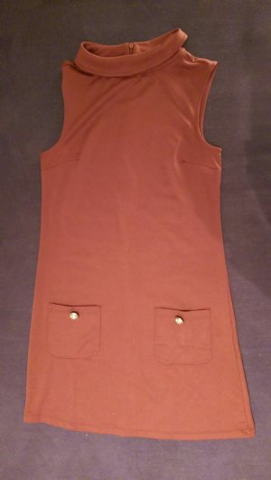 Mini Kleid Terracotta orange Amisu S Kragen Stretch