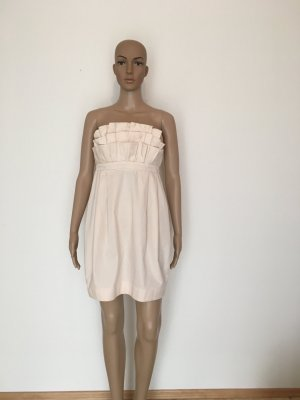 H&M Garden Collection Off-The-Shoulder Dress pink cotton